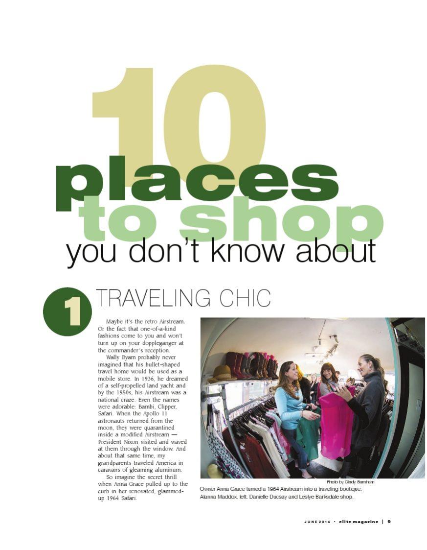 Feature article in Elite Magazine
