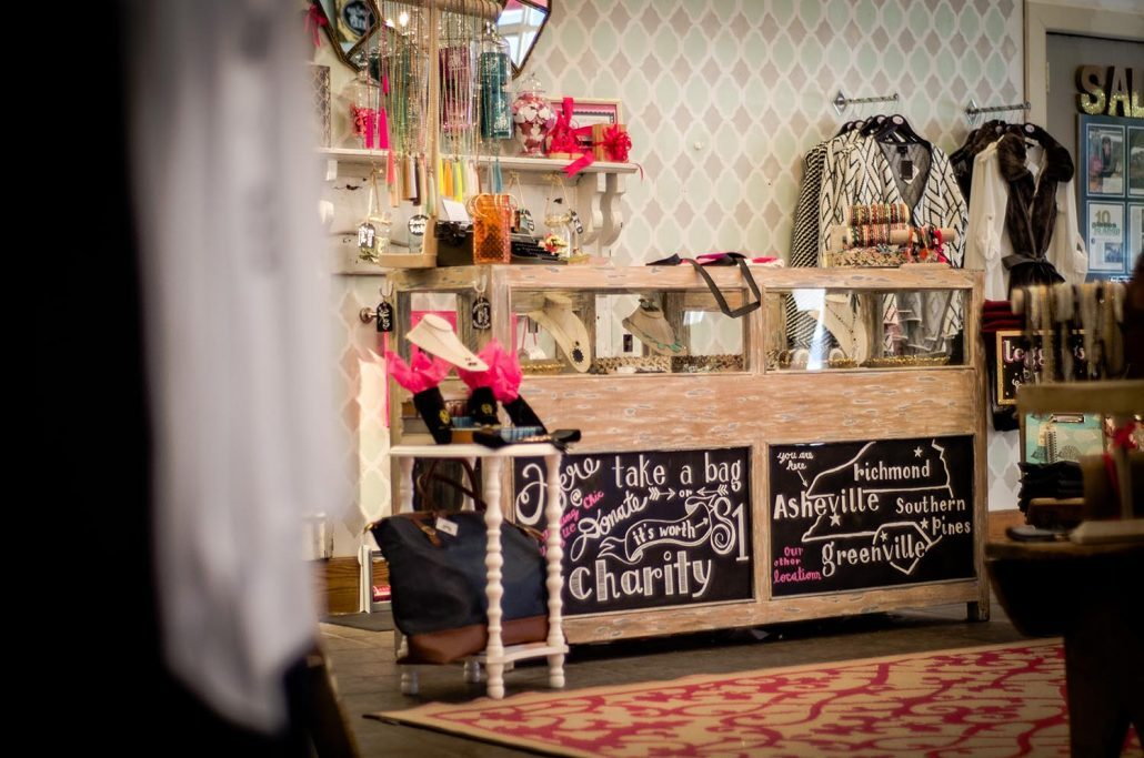 """We give back to local charities with our """"Shop for a Cause"""" day"""