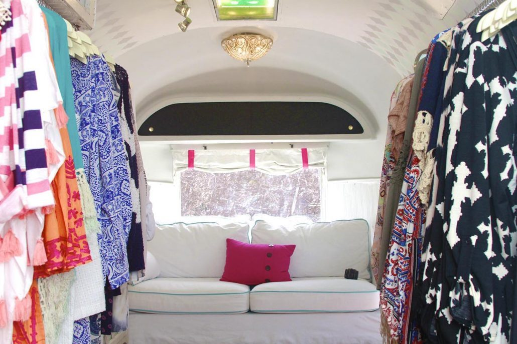 We retrofit vintage airstream trailers into our boutiques!