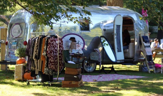 Our Airstream Traveling Chic Boutique Trunk Show in Bethel, CT